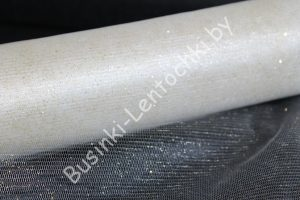 Фатин (1,5м) белый с напылением