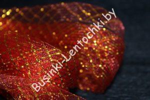 Регилин (2см) ленточный с люрексом красный