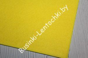 Фетр (2мм) жёлтый (20×30см)