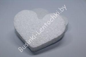 """Пенопластовая основа """"сердце плоское"""""""