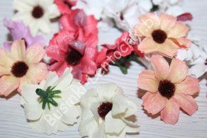 """Головки (3,5см) цветов """"ромашка с блеском"""""""