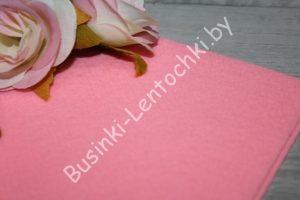 Фетр (1мм) корейский ярко-розовый жёсткий
