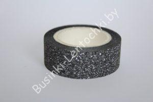 Клейкая лента (1,5см) чёрная