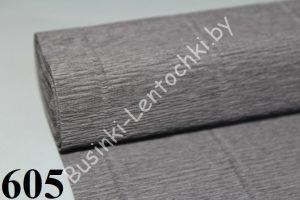 Бумага гофрированная цвет 605 графит