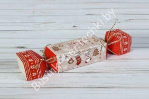 """Складная коробка-конфета """"подарок с новогодним настроением"""""""