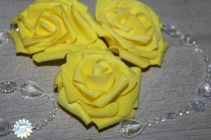 Цветок (7см) из фоамирана жёлтый