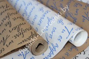 """Крафт-бумага (70см) """"строки"""""""
