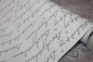 "Крафт-бумага (60см) ""калиграфия"""