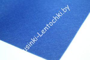 Фетр (1мм) синий (20×30см) мягкий