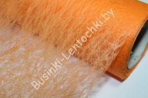 Флизелин флористический оранжевый