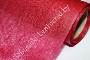 Флизелин флористический бордовый