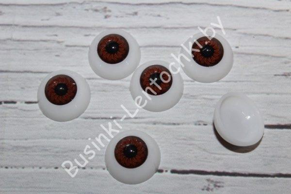 Глазки (20мм) круглые карие