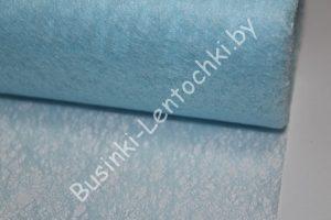 Флизелин флористический голубой