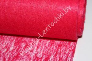 Флизелин флористический малиново-красный