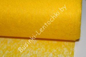 Флизелин флористический жёлтый