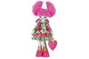 """Текстильная кукла """"первоклассница"""""""