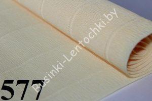 Бумага гофрированная цвет 577 кремовый