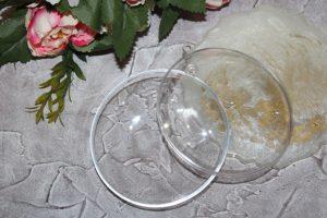 Шар (10см) прозрачный разъёмный плоский