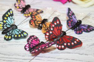 """Бабочки (5см) """"с точками"""""""