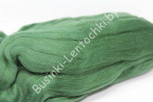 Шерсть для валяния полутонкая зелёная