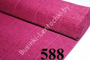 Бумага гофрированная цвет 588 бордовый