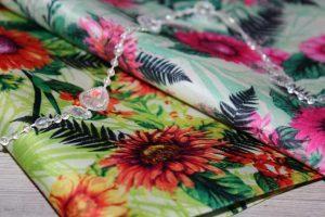Ткань (50×50см) для рукоделия «цветы большие»