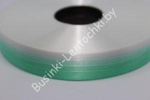 Лента (2см) бумажная зелёно-белая
