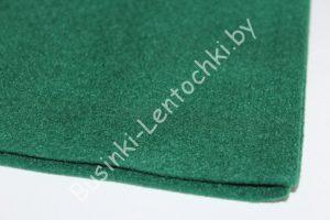 Фетр (1мм) тёмно-зелёный (20×30см) мягкий