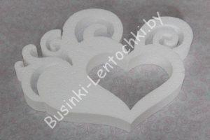"""Пенопластовая заготовка (22×16,5см) """"любовь в сердце"""""""