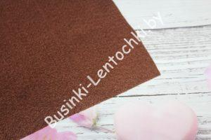 Фетр (2мм) тёмно-коричневый (20×30см)