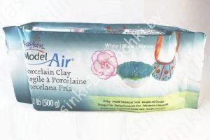 "Полимерная глина ""Sculpey Model Air Porcelain"" белая (500гр.)"
