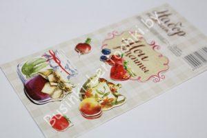 """Наклейки (7×14см) декоративные объёмные """"мои рецепты"""""""
