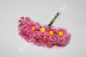 """Бумажные цветы (3см) """"ромашка"""" розовые"""