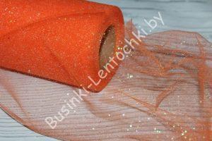 Фатин (15см) с блёстками оранжевый