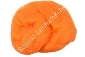 Волокно (25 грамм) для валяния вискоза оранжевый
