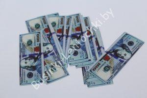 Деньги (60×20мм) сувенирные «100 долларов» мини
