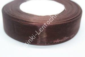 Лента (2,5см) тёмно-коричневая капроновая