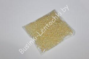 Бисер (20 гр.) 12/0 прозрачный с кремовым отверстием