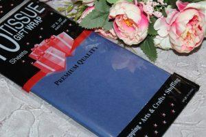 Бумага (50×66см) тишью тёмно-синяя