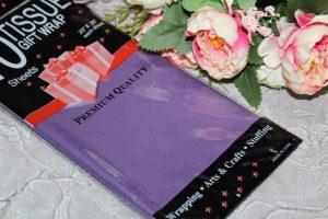Бумага (50×66см) тишью тёмно-фиолетовая