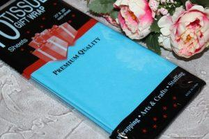 Бумага (50×66см) тишью тёмно-голубой