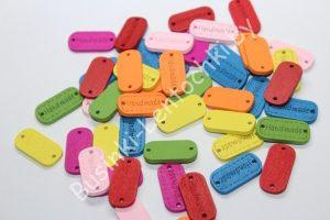 "Бирки (24мм) ""Hand made"" разноцветные"