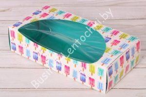 """Крафт-коробка (10×20×5см) """"мороженое"""""""