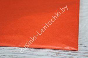 Бумага тишью тёмно-оранжевая