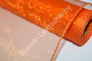 Органза (40см) флористическая ярко-оранжевая