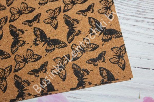 """Пробковые листы (17,8×15,2см) """"бабочки"""""""