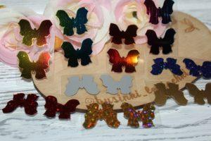 Термотрансферные наклейки (3см) «бабочка 3»