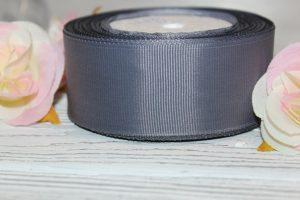 Лента (4см) репсовая тёмно-серая