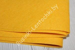 Фетр (1мм) тёмно жёлтый (85×50см)