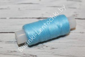 Нитки 40ЛШ (150м) ярко-голубые
